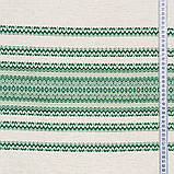 Скатерть вышитая зеленая лен TT119403    90x150, фото 3