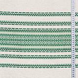 Скатертина вишита зелена льон TT119403 90x150, фото 3