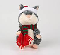 Говорящий хомяк серый UFT Christmas Hamster gray