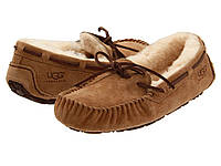 Мокасины женские UGG Dakota Оригинал коричневые мокасины угги
