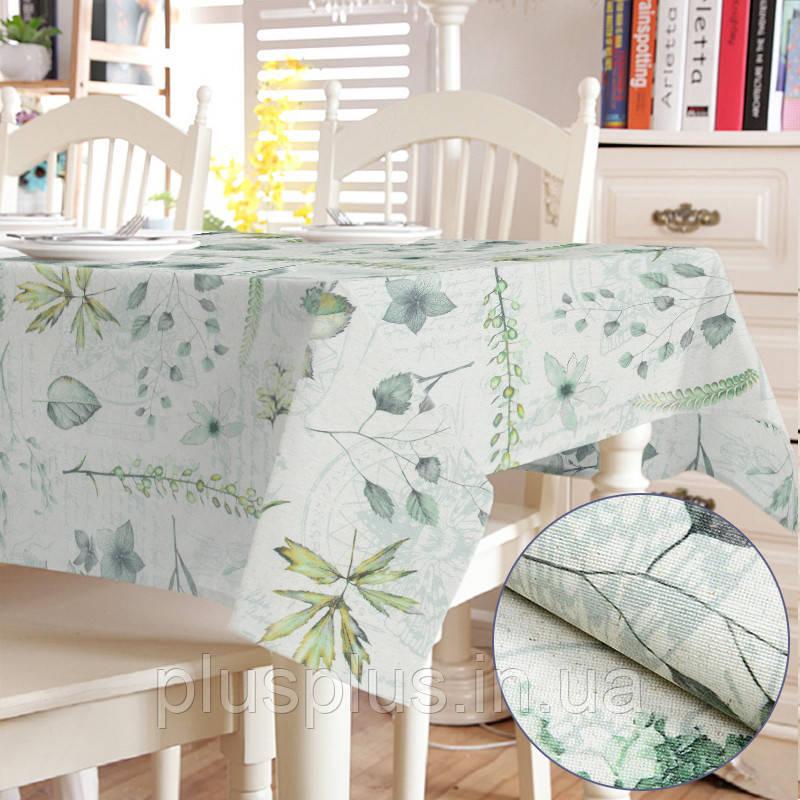 Скатерть с акриловой пропиткой Digital Print Flora Green TT164663    100x140
