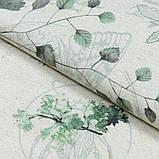 Скатерть с акриловой пропиткой Digital Print Flora Green TT164663    100x140, фото 3