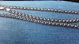 Срібний ланцюжок Арабський Бісмарк з камінням, 50 см., 23 гр., фото 3