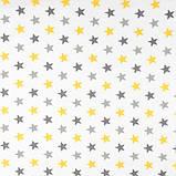 Тюль серпанок з обважнювачем Жовті зірочки 200x295 см TT162488-200295, фото 3