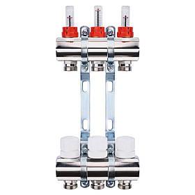 """Колектор з витратомірами, регуляторами і кріпленням ECO 001A 1""""x3"""
