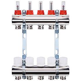 """Колектор з витратомірами, регуляторами і кріпленням ECO 001A 1""""x5"""