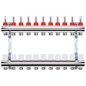 """Колектор з витратомірами, регуляторами і кріпленням ECO 001A 1""""x11"""