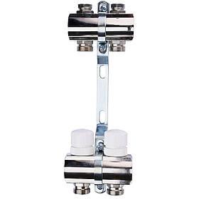 """Колектор з регуляторами і кріпленням ECO 001B 1""""x2"""