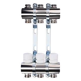 """Колектор з регуляторами і кріпленням ECO 001B 1""""x3"""