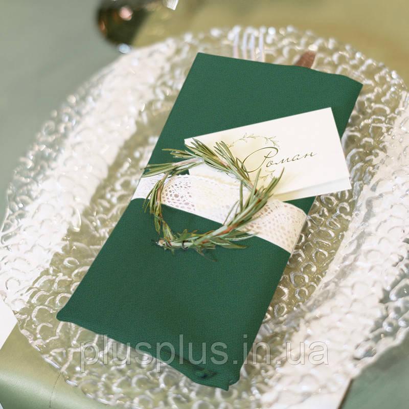 Серветка Time Textile Kanzas Emerald 38х38 см TT130368-s
