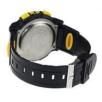 Спортивні годинник з секундоміром, будильником і неоновим підсвічуванням (∅40 мм) Honhx-Sport yellow, фото 2