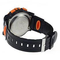 Спортивні годинник з секундоміром, будильником і неоновим підсвічуванням (∅40 мм) Honhx-orange Sport, фото 2
