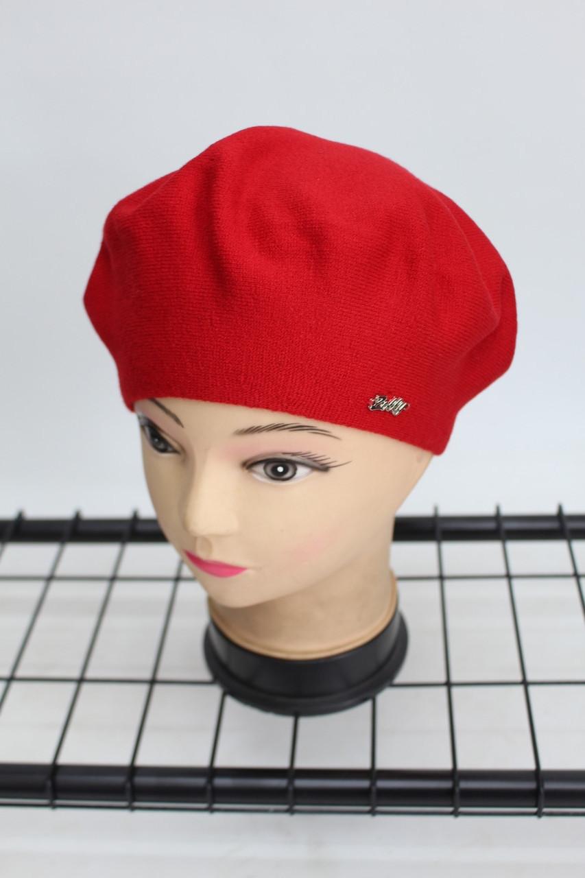 Берет Zolly однотонний жіночий (червоний) 804011