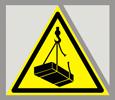Предупреждающий знак «Опасно. Возможно падение груза».