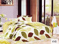 Сатиновое постельное белье евро ELWAY 4149