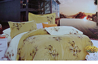 Сатиновое постельное белье евро ELWAY 4186