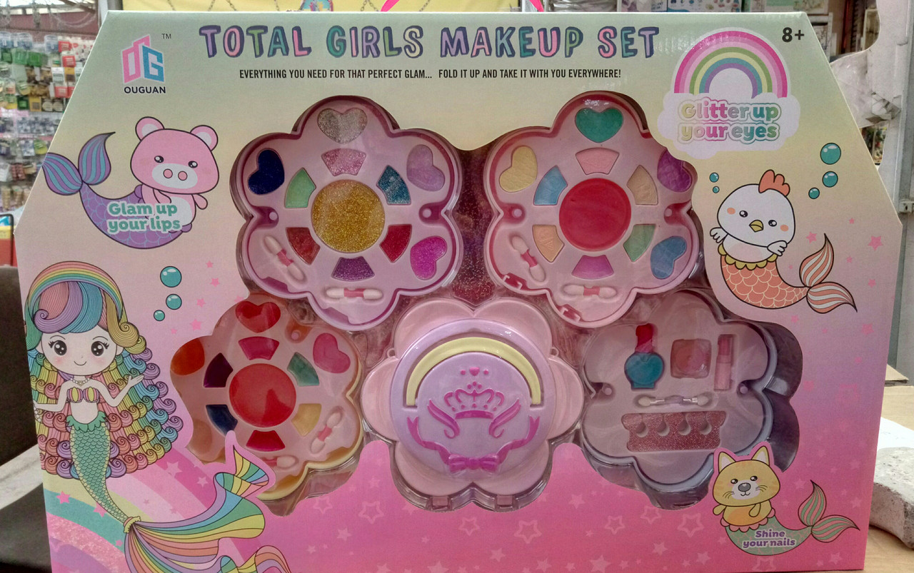 Детский набор косметики 2005 А, тени, лаки, помада - набор косметики для девочек, большой набор косметики