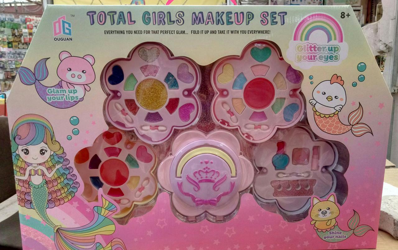 Дитячий набір косметики 2005 А, тіні, лаки, помада - набір косметики для дівчаток, великий набір косметики