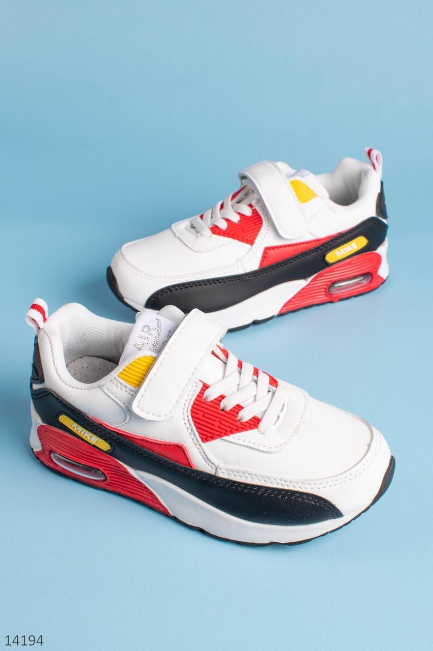Белые кроссовки для мальчика. ТМ Канарейка.  Размеры 31-36