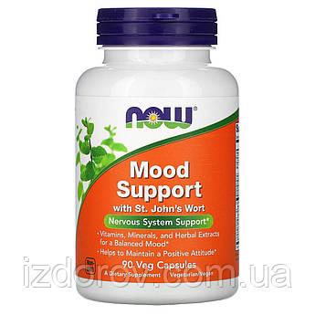 Now Foods, Поддержка нервной системы, Mood Support со зверобоем, 90 растительных капсул