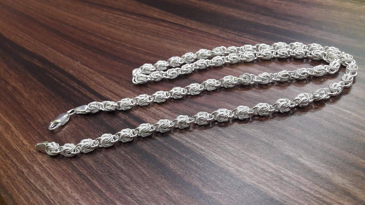 Срібний ланцюжок Горіх з подвійною філігранню, 50см., 22 гр.