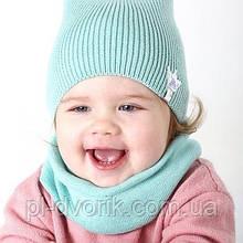 Весенняя/осенняя детская шапка Li-Li х/б. р.44-48 (от 9 мес до 2 лет)