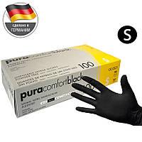 Нитриловые перчатки S черные Ampri Pura Black (50 пар)