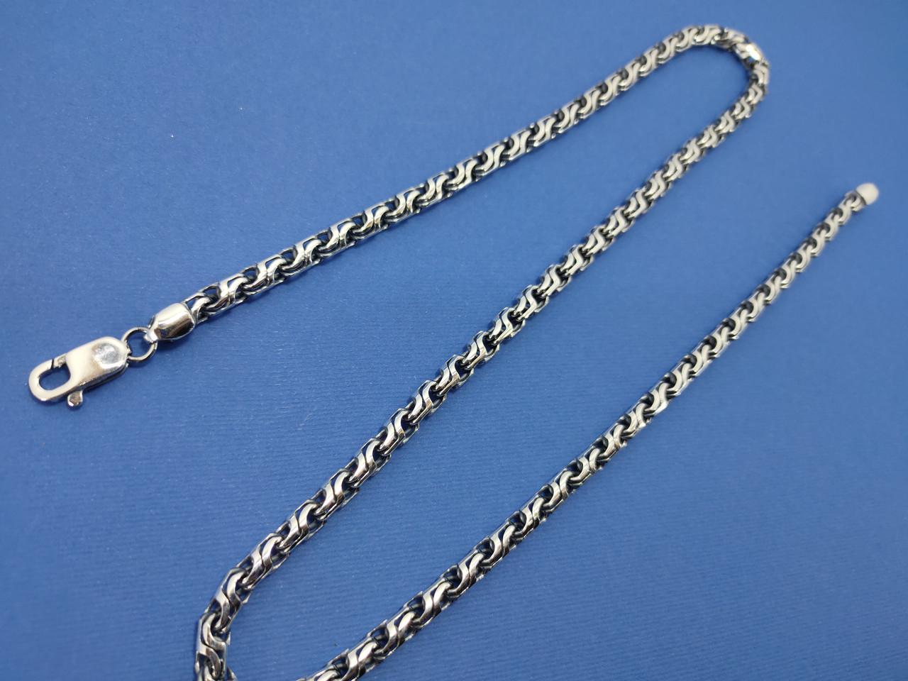Серебряная цепочка плетение 28, 50 см.,35 гр.
