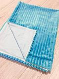 Плед Top Hit з панелькою, без утеплювача, з енотом, блакитний 75x95 (r1261), фото 2