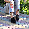 Актуальні чорні замшеві туфлі натуральна замша, фото 3
