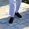 Актуальні чорні замшеві туфлі натуральна замша, фото 5