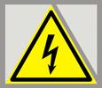 Попереджувальний знак «Небезпека ураження електричним струмом»