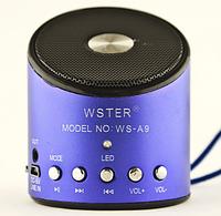 Портативный беспроводной динамик  ws-a9, Мини-динамик, Портативная колонка Monster Beats радио micro SD синий)