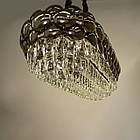 Овальна кришталева люстра на ланцюгу в стилі Арт-Деко каркас хром 85*85 см на 10 ламп Е14 D-QS7719/800x350BHR, фото 2