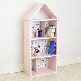 Дитяча полку-будиночок H 2020-13-2 рожевий