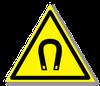 Предупреждающий знак «Внимание! Магнитное поле».