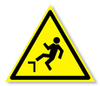 Предупреждающий знак «Осторожно. Возможно падение с высоты».