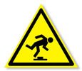 Предупреждающий знак «Осторожно. Малозаметное препятствие».