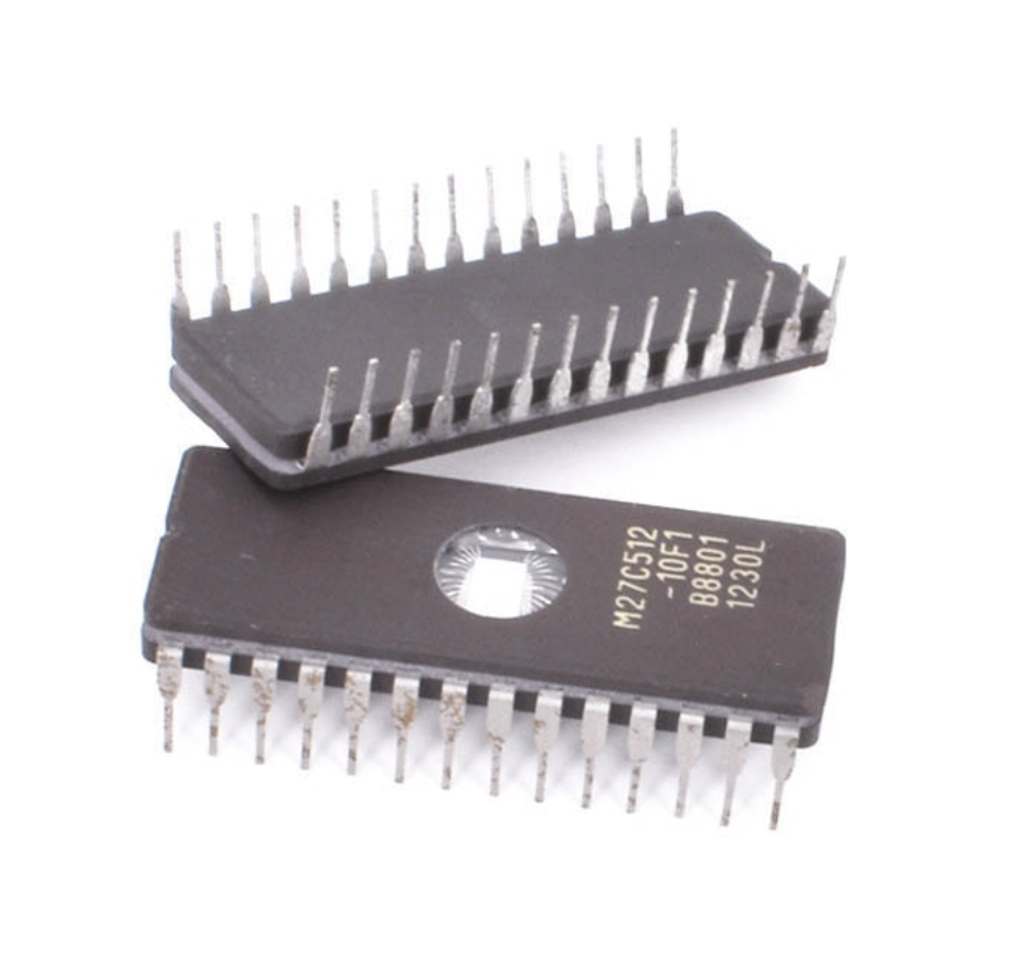 M27C512-10F1, Інтегральна мікросхема пам'яті (EPROM 64kx8) CDIP-28