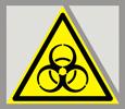 Предупреждающий знак «Осторожно. Биологическая опасность (инфекционные вещества)».