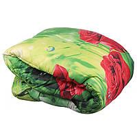 Ковдра двоспальне Constancy 172 х 205 (33395) Троянди червоні на зеленому