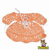Мини декор Платье вязаное Персиковое 7x5 см HandMade
