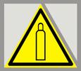 Предупреждающий знак «Газовый баллон».
