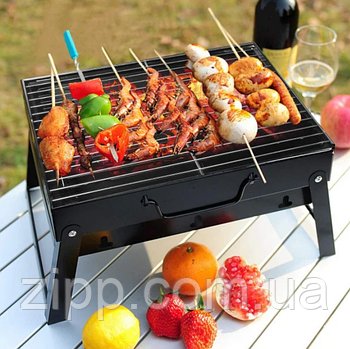 Мангал складаний барбекю гриль решітка 35 x 27 x 20 см портативний BBQ Grill Portable
