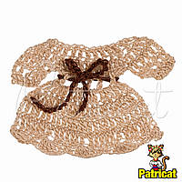 Мини декор Платье Кофе с молоком 7x5 см