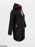 """Жіноча тепла куртка-парку великих розмірів """"Астра"""", чорна, фото 4"""