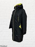 """Жіноча тепла куртка-парку великих розмірів """"Астра"""", чорна, фото 7"""