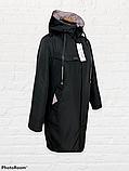 """Жіноча тепла куртка-парку великих розмірів """"Астра"""", чорна, фото 8"""