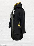 """Жіноча тепла куртка-парку великих розмірів """"Астра"""", чорна, фото 10"""