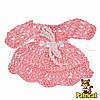 Мини декор Платье Розовое 7x5 см